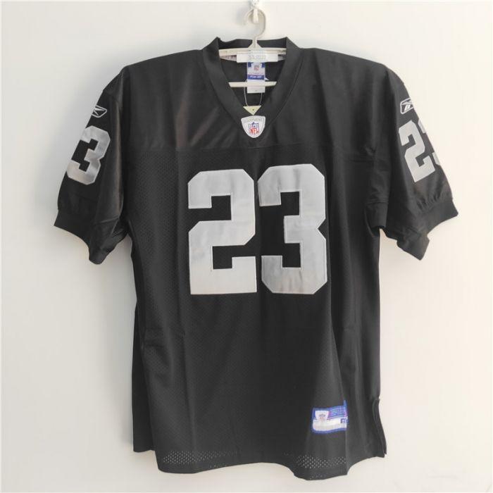 Reebok NFL Oakland Raiders DeAngelo Hall #23 Stitched Black Jersey 50