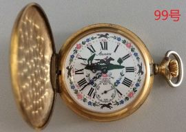 Vintage Arnex Pocket Watch 17 Jewel Incabloc Shock Resistant