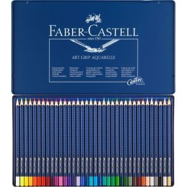 Faber-Castell ART GRIP Aquarelle Pencil In A Metal Tin (36 Pack) 114236