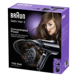 Braun HD330 220 Volt SatinHair 3 Hair Blower Dryer 220V 1700w