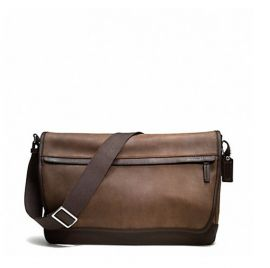 COACH Men's F70924 Camden Leather Messenger Shoulder Bag