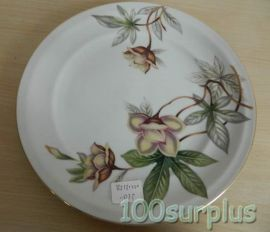 "Meito Ivory China Japan WOODROSE Round Flat Plate 10"" 25cm"