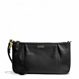 CAMPBELL LEATHER LARGE WRISTLET (COACH F50796)