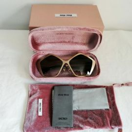 MIU MIU Culte Limited Edition Women Sunglasses SMU53N Brushed Gold Frame Brown Lens