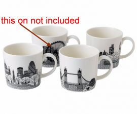 3 Mugs Royal Doulton Charlene Mullen Mugs London City Scape