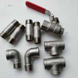 "9pcs NORDS 316 1/2"" valve and Stainless Steel fittings"