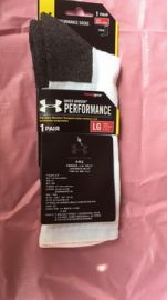 UNDER ARMOUR UA heatgear Mens Socks UA406 L WHITE