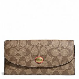 PEYTON SIGNATURE SLIM ENVELOPE WITH POUCH (COACH F49154)