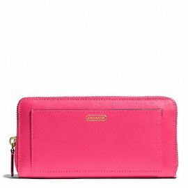 DARCY ACCORDION ZIP WALLET IN LEATHER (COACH F50427)