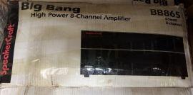 Speakercraft BB865 8 Channel Big Bang Power Amplifier (NO ACCESSORIES)