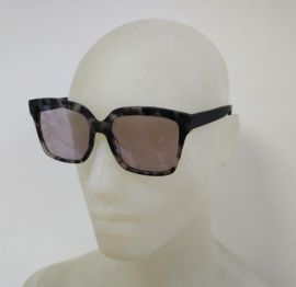 Clive Somers Panama Sunglasses standard and Progressive lens Black/White Frame with light grey lens