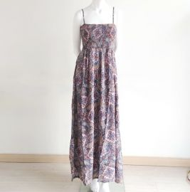 Forever21 halter top and long dress Pink/Blue S M L