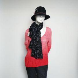Forever 21 Scarf Scarves Fashion Black/White Cross