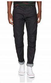 W32 L32 G-Star Raw Men's 5620 Elwood 3D Super Slim Jeans in Black Stretch Denim