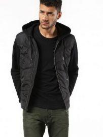 DIESEL Men's Black S-nilh Jacket XL 00SSVQ-0LAMO-900