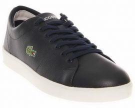 EU44 LACOSTE MARCEL CUP SSL Sneakers Dark Blue Leather 7-27SPM1061DB4