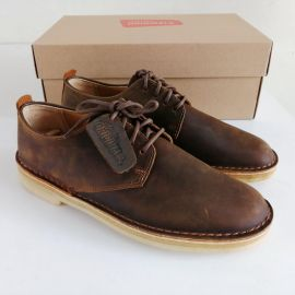 EU40 Clarks Original Desert London Beeswax Leather Shoes 26107880  BROWN