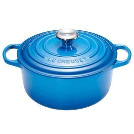 3.3L 22cm LE CREUSET Signature Round Casserole Round Dutch Oven Marseille Blue 21177222002430
