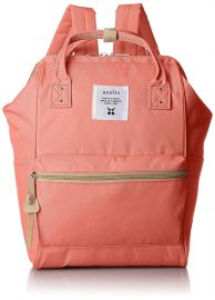 anello #AT-B0197B small backpack with side pockets black/PINK
