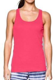 M  Under Armour Women's Double Threat Tank Pink 1253915-683
