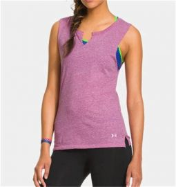 Under Armour Charged Cotton Undeniable Sleeveless Crew Women's Tank Top 1243116-600  PURPLE M