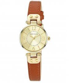 Anne Klein Women's Manhattan Quartz Watch 10/N9442CHHY with Analogue Display and Leather Bracelet