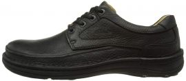 EU39.5   Clarks Nature Three Black Leather Men Casual Shoes 20339008
