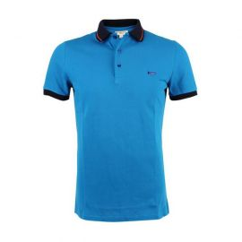 Burberry Men's Contrast Tipping Detail Polo T-shirt Blue 3965276 L
