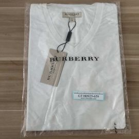 Burberry Mens Technical Modal Blended T-Shirt V-neck 3968908 White L
