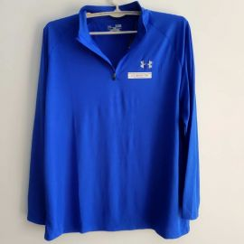 Under Armour 1242220 HeatGear Tech 1/4 Zip Long Sleeve Shirt Blue XL
