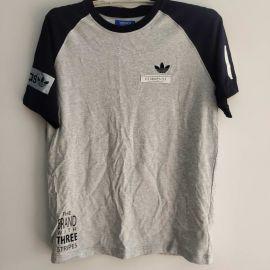 Adidas AO0556 Mens Logo Raglan Tee M Grey