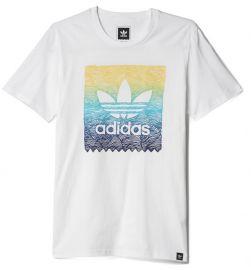 2017 Men / Women Adidas Originals Scratch Grid T-shirt White S93304 M
