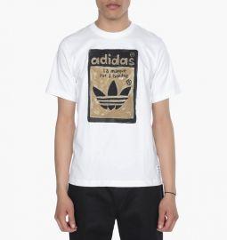 Adidas AJ5205 Artist Superstar Tongue Label Tee White M