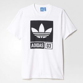 ADIDAS AJ7716 ORIGINALS Street Graphic T-Shirt White M