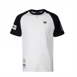 Adidas AO0555 Mens Logo Raglan Tee M White/Black