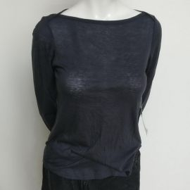 A.L.C. Brenton Top 4138MT Navy Blue SIZE S 165-170cm Cotton90% Cashmere10%