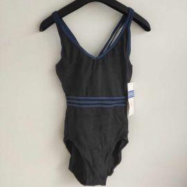 Danskin 3984 Womens Dance Bodysuit S Black/Purple
