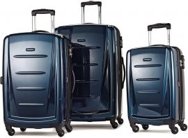 Samsonite Winfield 2 3PC Hardside Luggage Set Deep Blue 56847-1277