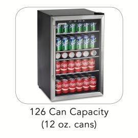 TRAMONTINA Wine and Beverage Center 126 Can Capacity 115V