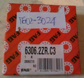 6306.2ZR.C3 FAG Ball Bearing 30mm x 72mm x 19mm 6306-2ZR-C3