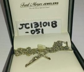 Crucifix Cross Pendant in Sterling Silver Necklace (Fred Meyer Jewelers)