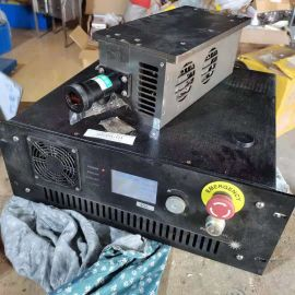Laser device and power supply used
