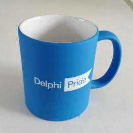 11oz Blue Chalkboard Mug from Staples for Delphi