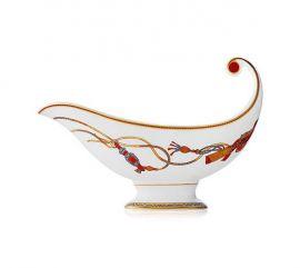 HERMES Cheval d' Orient Porcelain Sauce Bowl