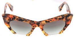 MIU MIU SMU10OS Rasoir Sunglasses Cat Eye 50/21 MAN-0A7 145 2N Marble Havana Brown