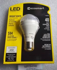 120V ECOSMART 184902 184-902 Bright White GP19 LED bulb 450Lumens 3000K 6W=40W