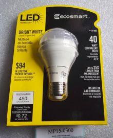 120V ECOSMART 184902 184-902 Bright White GP19 LED bulb 450Lumens 3000K 6W=40W