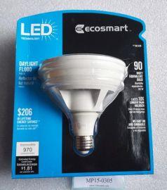 120V ECOSMART 182629 182-629 Daylight A19 Led Bulb 970Lumens 5000K 15W=90W