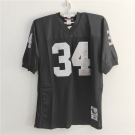 Bo Jackson OAKLAND RAIDERS #34 NFL Mitchell and Ness Throwback Black Jersey 1987 SIZE 52