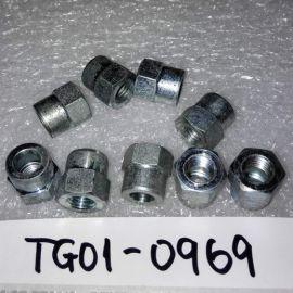 10 X Parker C06N-2H Parflex Nut Hose Joint Connectors $0.75/pc